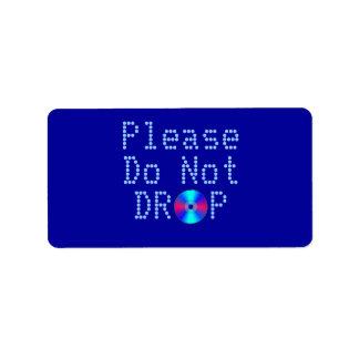 Rayo azul etiquetas de dirección