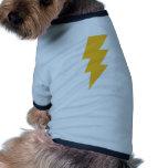Rayo de destello amarillo camisetas de mascota