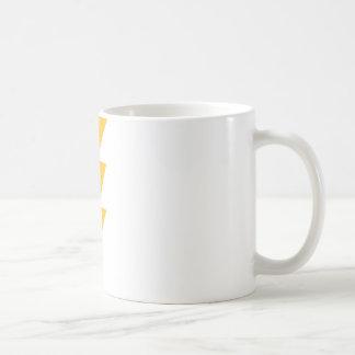 Rayo de destello amarillo tazas de café