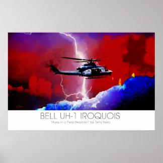 Rayo de Huey del Iroquois de Bell UH-1 surrealista Impresiones