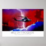 Rayo de Huey del Iroquois de Bell UH-1 surrealista Póster