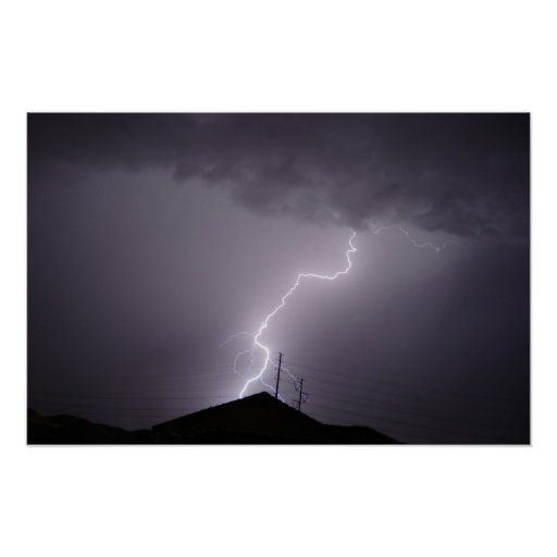 Rayo de la monzón, Arizona Póster