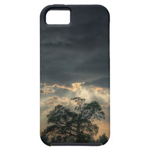 Rayo de la oscuridad de la naturaleza de iPhone 5 Case-Mate funda
