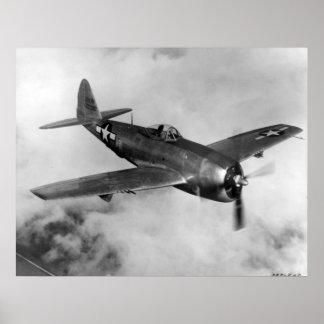 Rayo de la república P-47 Poster