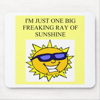 rayo de la sol freaking alfombrillas de raton
