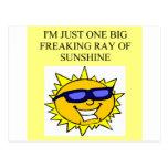 rayo de la sol freaking tarjeta postal
