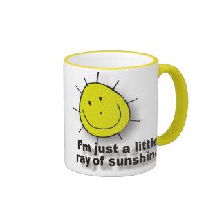 Rayo de la sol tazas de café