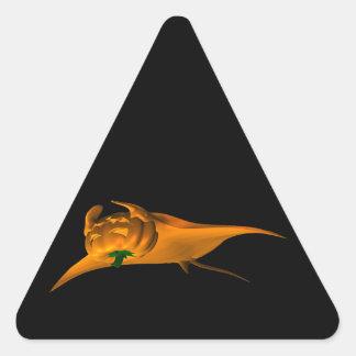 Rayo de Manta de Halloween Pegatina Triangular
