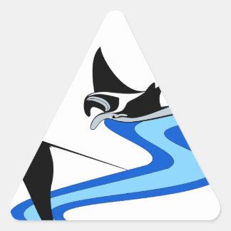 Rayo de Manta Pegatina Triangular