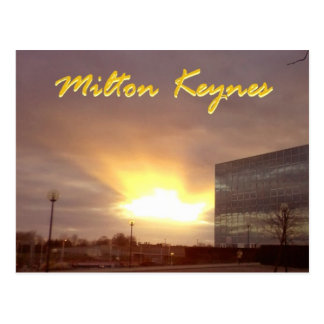 Rayo de Milton Keynes de la postal del sol