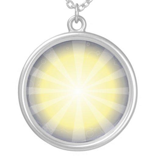 Rayo de sol collar personalizado