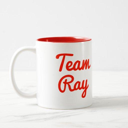 Rayo del equipo tazas de café