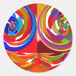 Rayo del ku de Cho - placa curativa V7 de la terap Pegatinas Redondas