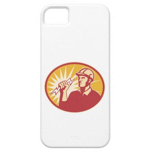 Rayo del trabajador de línea eléctrica del electri iPhone 5 coberturas