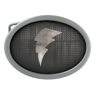 Rayo Negro fresco Hebillas Cinturón Ovales