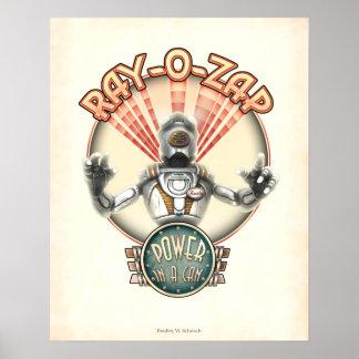 """Rayo-O-Zap el poster retro del robot (16x20"""")"""