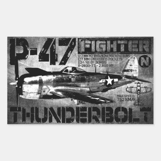 Rayo P-47 Rectangular Pegatina