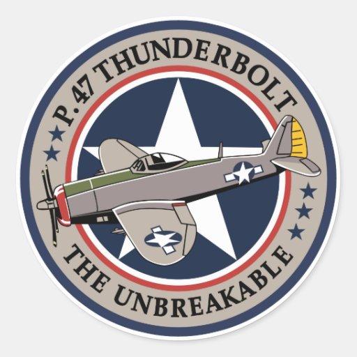 Rayo P-47 Pegatina Redonda