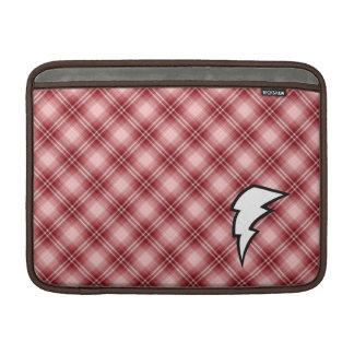 Rayo rojo de la tela escocesa fundas macbook air