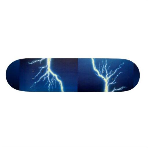 Rayo sobre fondo azul tablas de patinar