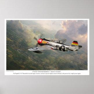 """Rayo """"Sus descarado """" de P-47D del poster """"del art"""