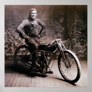 RAYO TEMPRANO WEISHAAR 1914 DEL PIONERO DE LA MOTO POSTERS