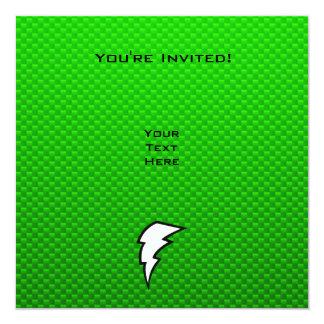 """Rayo verde invitación 5.25"""" x 5.25"""""""