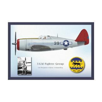 Rayo y Benjamin O. Davis de P-47D Lona Estirada Galerías