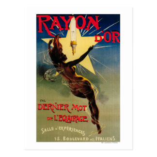 Rayon D'Or Restaurant Promotional Poster Post Card