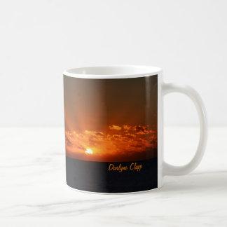 Rayos a la taza de café del cielo