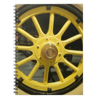 Rayos amarillos libros de apuntes con espiral