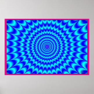 Rayos azules de extensión póster