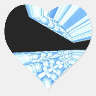 Rayos azules en arte del fractal del espacio colcomanias corazon