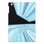 Rayos azules en caso del iPad del arte del fractal iPad Mini Fundas