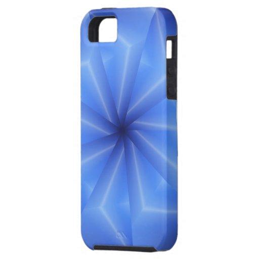 Rayos azules hermosos iPhone 5 carcasa