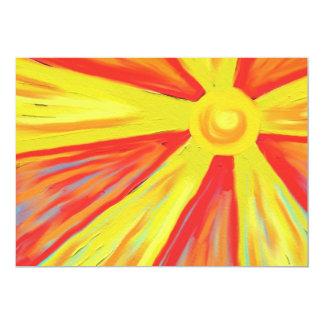 "Rayos calientes de Sun Invitación 5"" X 7"""
