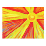 Rayos calientes de Sun Tarjeta Postal