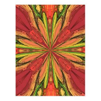 Rayos coloreados tarjetas postales