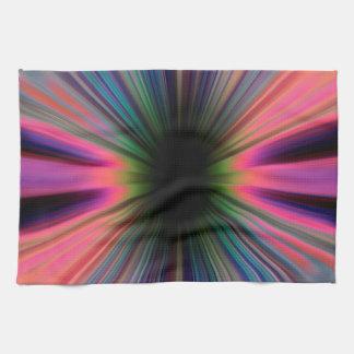 Rayos coloridos del resplandor solar toallas
