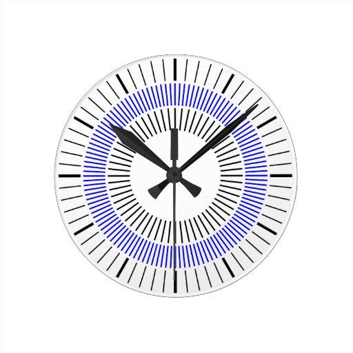 Rayos concéntricos - azul reloj