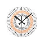 Rayos concéntricos - naranja relojes