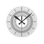 Rayos concéntricos reloj de pared