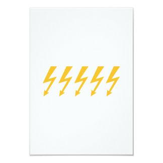 """Rayos de destello amarillos invitación 3.5"""" x 5"""""""