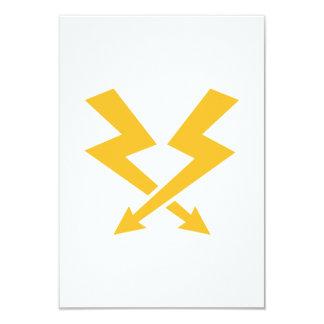 """Rayos de destello cruzados invitación 3.5"""" x 5"""""""