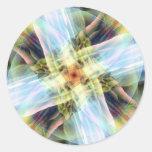 Rayos de la luz pegatinas redondas