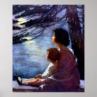 Rayos de luna por Jessie Willcox Smith - impresi Posters