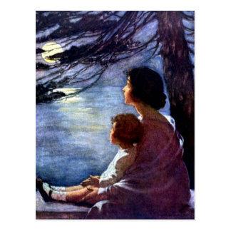 """Rayos de luna"" por Jessie Willcox Smith Postales"