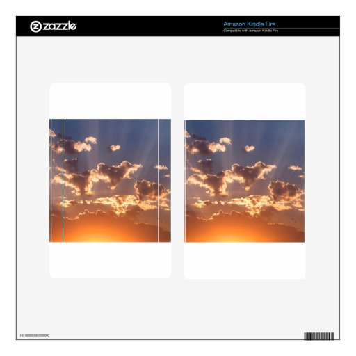 Rayos de Moslty de la puesta del sol Pegatina Skin Para Kindle Fire