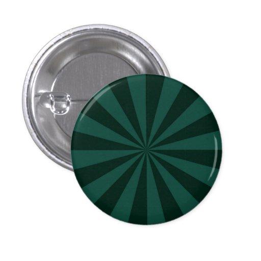 Rayos de sol en botón verde pin redondo de 1 pulgada