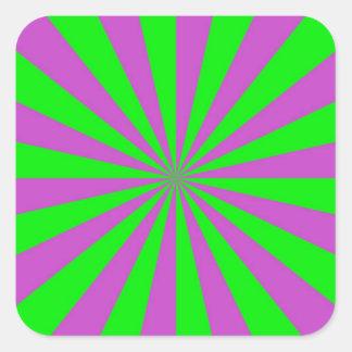 Rayos de sol en pegatina rosado y verde